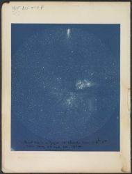 """Great Nebula in Argus. 13"""" telescope exposure, 6 h 5 m [6 hours, 5 minutes]. Taken May 23 and 24, 1894. Arequipa"""