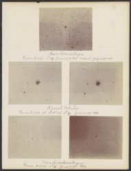 Nova Normae Region; Spiral Nebula [2 images]; Nova Centari Region [2 images, 5 photographs, 1898]