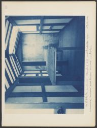 M.P. Shelter (interior) March 9, 1899 with shelter open.