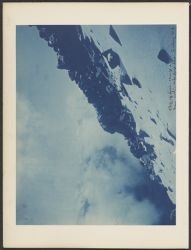 Cliff of lava, 18, 000 ft. From path- wide angle lens looking N. E. [Jan. 5, 1894]