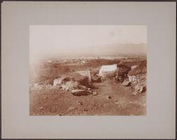 [View of huts or dwellings near Arequipa, Peru]