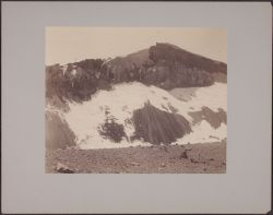 W. Wall of Old Crater of Misti looking N showing shelter [and] mule