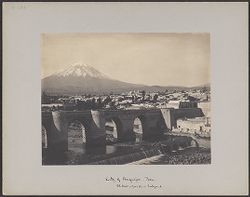 City of Arequipa, Peru, El Misti, 19000 ft., in background