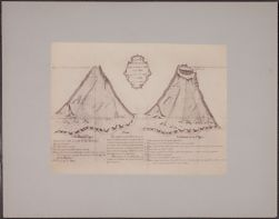 Copy of old drawing of the Misti [photographic reproduction mounted on board]