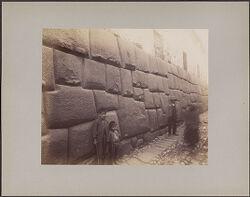 Cuzco street scene, cyclopean wall