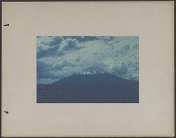 El Misti taken Sept. 6 '93 [1893] 8:30 a.m.[cyanotype photograph]