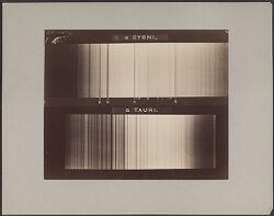 a Cygni, a Taurii [spectra]