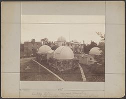 Cambridge Station, Harvard Observatory, Showing Photographic Library in background at left
