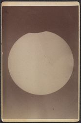 The Beginning of the eclipse at Vassar College. March 16, 1885