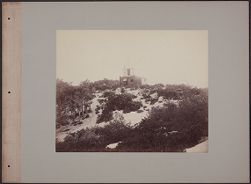 [View of station on sandy hilltop]