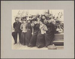 [Women on-board ship, ca. 1900]
