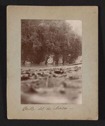 Orilla del rio Araza.   Exploracion al rio Inambari