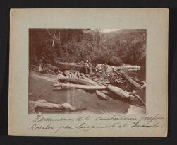Terminacion de la construccion Josefina Rosalia y su lanzamiento al Inambari.   Exploracion al rio Inambari