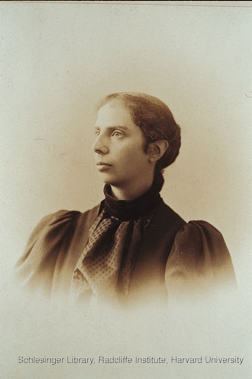 Portrait of Alice Stone Blackwell staring into the distance.