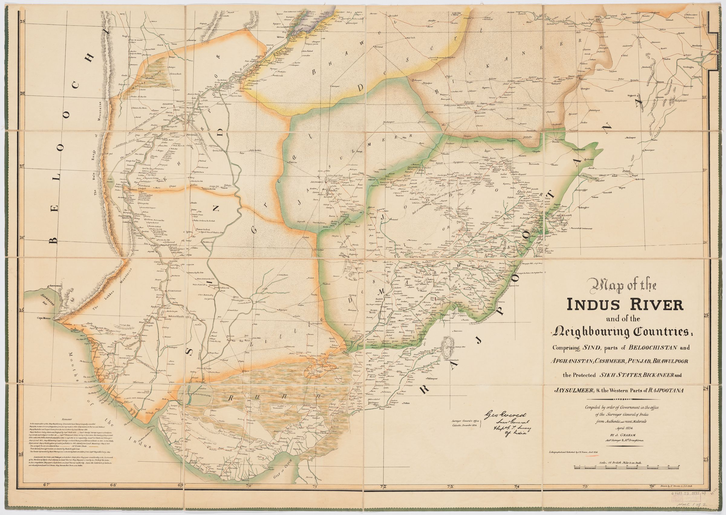 Map of the Indus River and the neighbouring countries, sheet 1 ...
