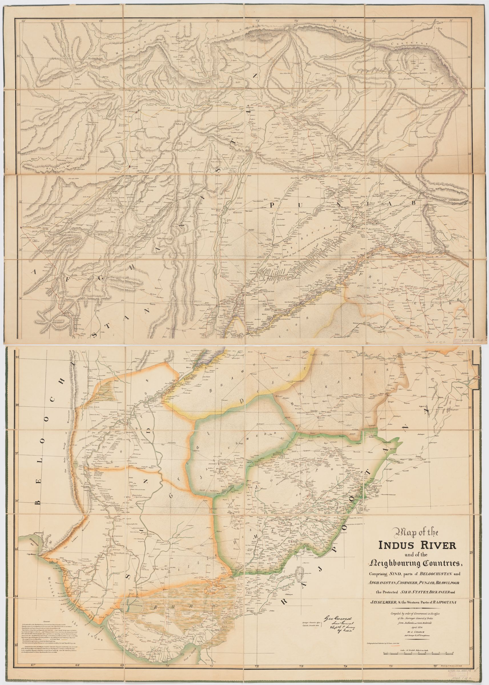 Map of the Indus River and the neighbouring countries ...