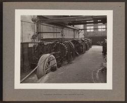 Submarine telephone cable armoring machine