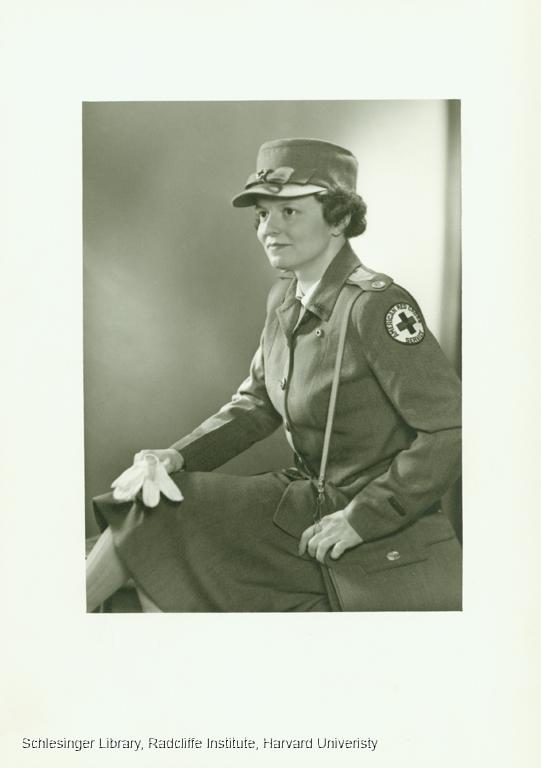 Portrait of Katharine Lane Weems wearing a Red Cross nurse's uniform