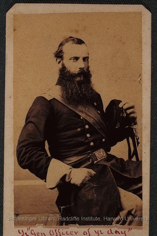 Portrait of James Beecher in military uniform