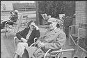 [Julia And Lyonel Feininger In Roof Garden, 16Th Floor, 235 E. 22Nd Street Apartment, New York, New York]