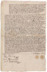 Indenture of Stephen Day, 1638 July 7 Digital Object