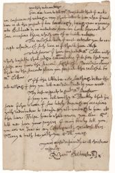 Letter from Richard Saltonstall to Henry Dunster, 1651 Digital Object