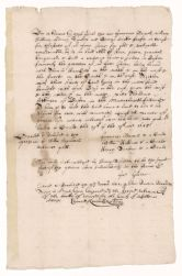 Deed of sale for the Glover house in Boston given by Henry Dunster and others to Theodore Atkinson, 1645 September 29 (manuscript copy, 1652) Digital Object