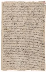 Letter from Henry Dunster of Balehoult, Lancashire, England, to his son, Henry Dunster, Cambridge, New England, 1640 March 20 Digital Object
