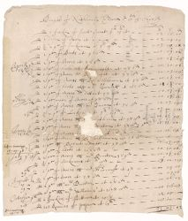 Bill to Henry Dunster from Nathaniel Eldred, 1641 October Digital Object