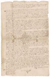 Agreement between Henry Dunster and his farmer, Edmund Rice, 1642 September 13 Digital Object