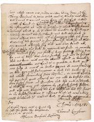 Appraisal of Mrs. Dunster's wood lot, 1656 January Digital Object