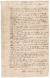 Inventory of Glover estate acknowledged in court by Henry Dunster, 1656 April 1 Digital Object