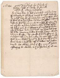 Motion presented to the court by Henry Dunster, 1656 April 1 Digital Object