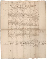 Petition by Henry Dunster to the General Court of Massachusetts, 1652 October 20, 1652 October 28 Digital Object