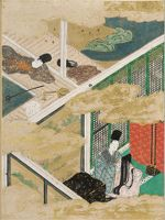 The Broom Tree (Hahakigi), Illustration To Chapter 2 Of The Tale Of Genji (Genji Monogatari)