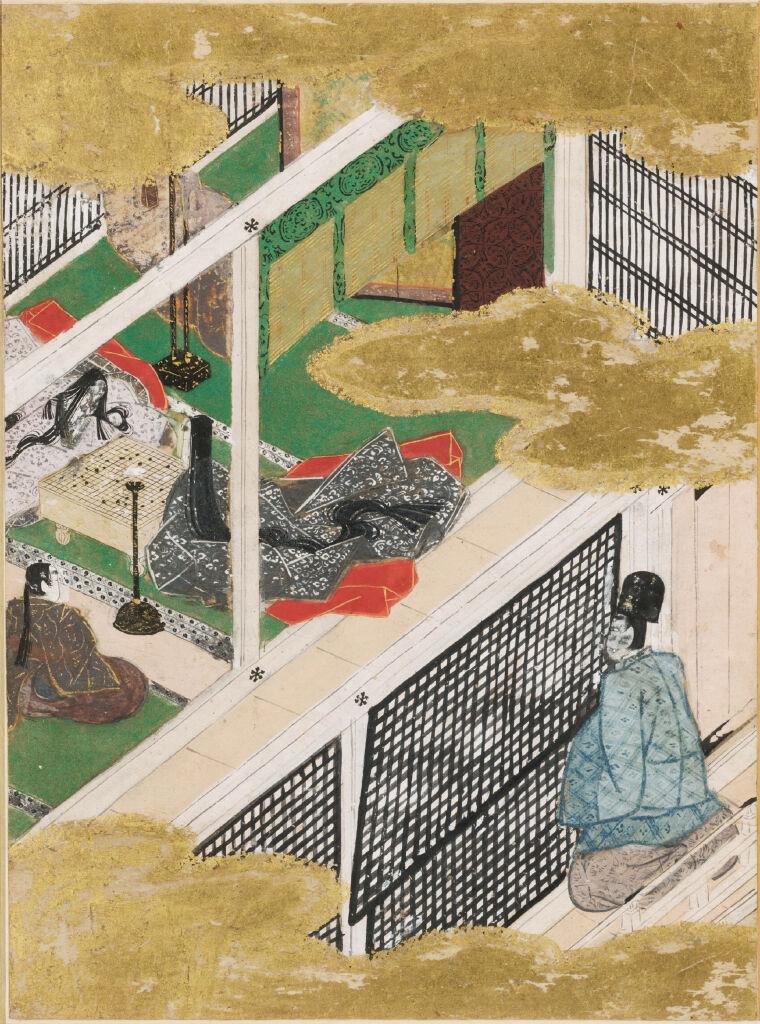The Cicada Shell (Utsusemi), Illustration To Chapter 3 Of The Tale Of Genji (Genji Monogatari)