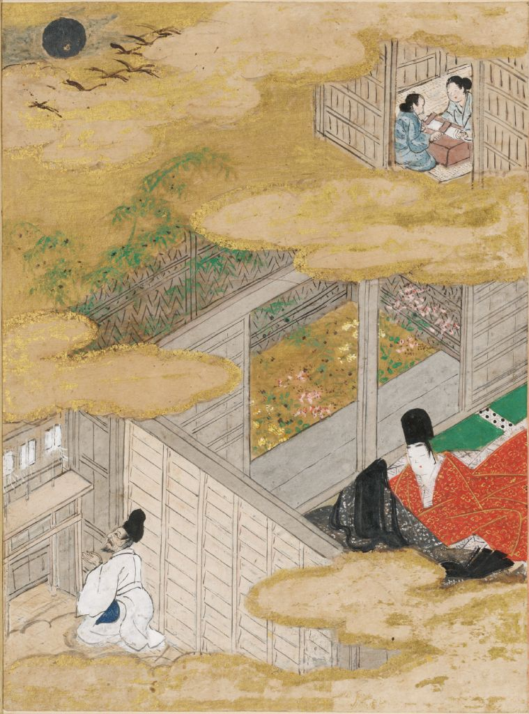 The Twilight Beauty (Yūgao), Illustration To Chapter 4 Of The Tale Of Genji (Genji Monogatari)