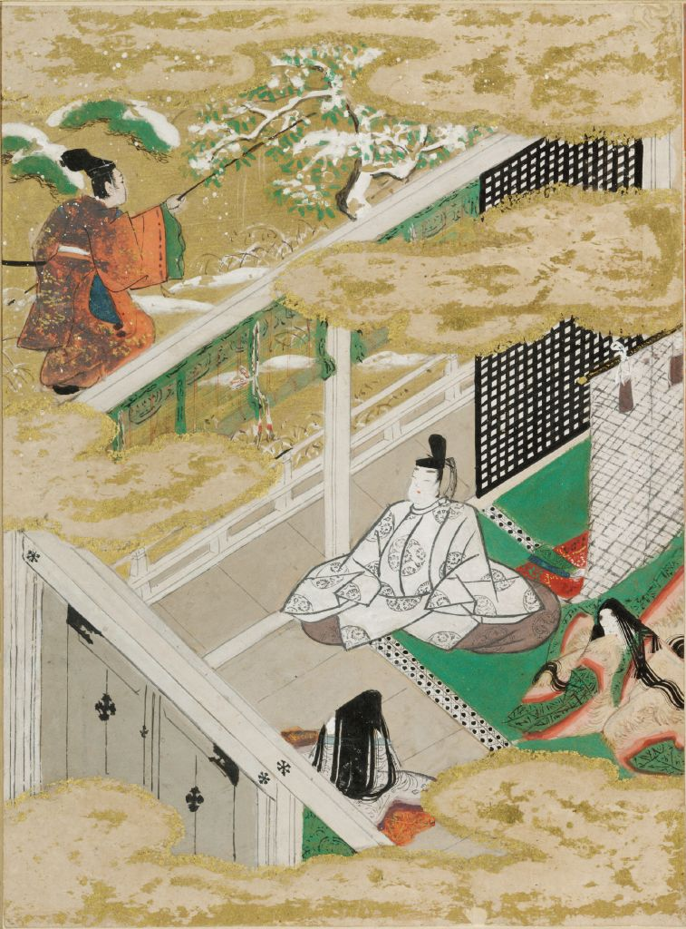 The Safflower (Suetsumuhana), Illustration To Chapter 6 Of The Tale Of Genji (Genji Monogatari)