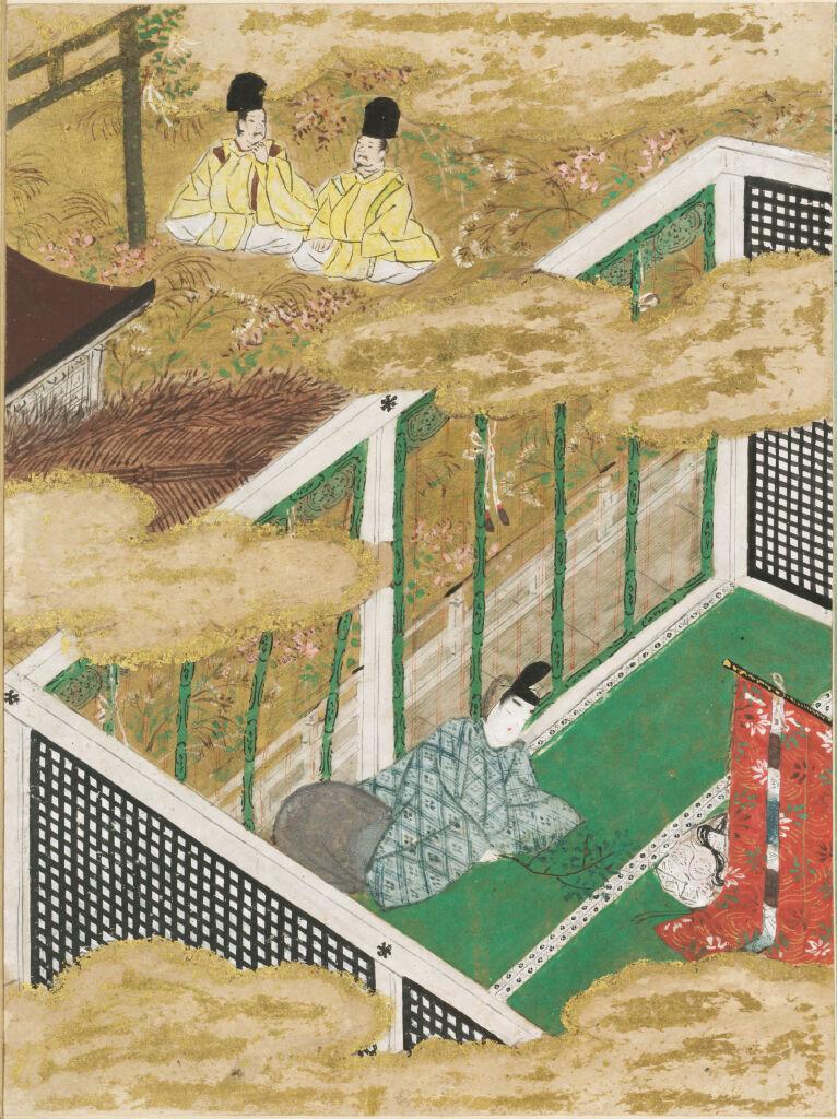 The Green Branch (Sakaki), Illustration To Chapter 10 Of The Tale Of Genji (Genji Monogatari)