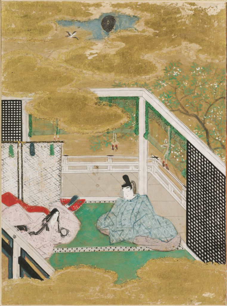 Falling Flowers (Hanachirusato), Illustration To Chapter 11 Of The Tale Of Genji (Genji Monogatari)