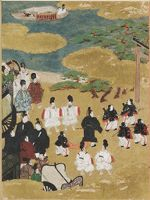 The Pilgrimage To Sumiyoshi (Miotsukushi), Illustration To Chapter 14 Of The