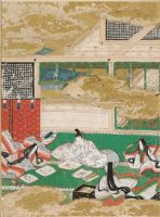 The Picture Contest (Eawase), Illustration To Chapter 17 Of The Tale Of Genji (Genji Monogatari)