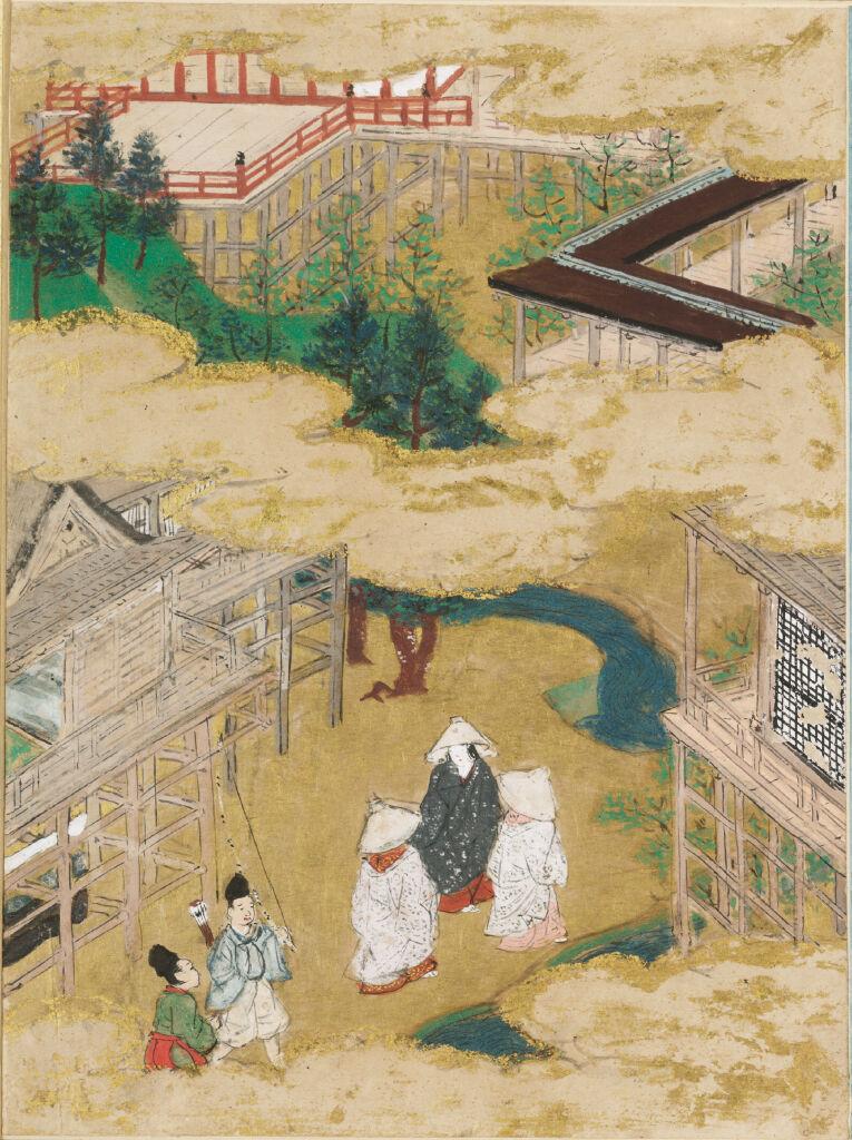 The Tendril Wreath (Tamakazura), Illustration To Chapter 22 Of The Tale Of Genji (Genji Monogatari)
