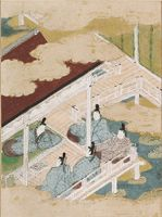 The Pink (Tokonatsu), Illustration To Chapter 26 Of The Tale Of Genji (Genji Monogatari)