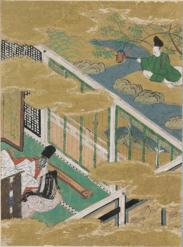 The Cressets (Kagaribi), Illustration To Chapter 27 Of The Tale Of Genji (Genji Monogatari)