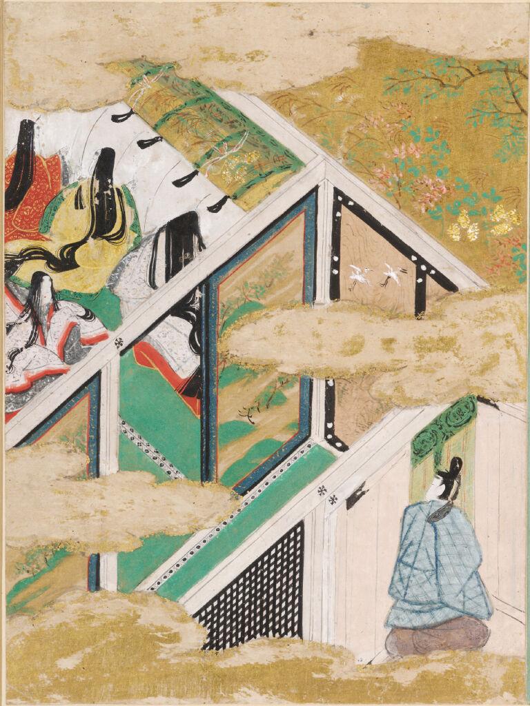 The Typhoon (Nowaki), Illustration To Chapter 28 Of The Tale Of Genji (Genji Monogatari)