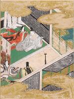 The Handsome Pillar (Makibashira), Illustration To Chapter 31 Of The Tale Of Genji (Genji Monogatari)