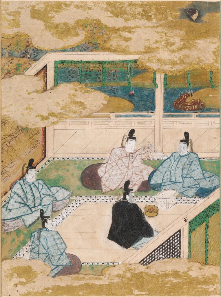 New Wisteria Leaves (Fuji No Uraba), Illustration To Chapter 33 Of The Tale Of Genji (Genji Monogatari)
