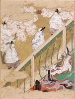 Spring Shoots I (Wakana: Jô), Illustration To Chapter 34 Of The Tale Of Genji (Genji Monogatari)