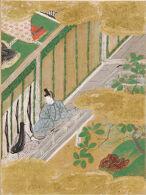 The Oak Tree (Kashiwagi), Illustration to Chapter 36 of the Tale of Genji (Genji monogatari)